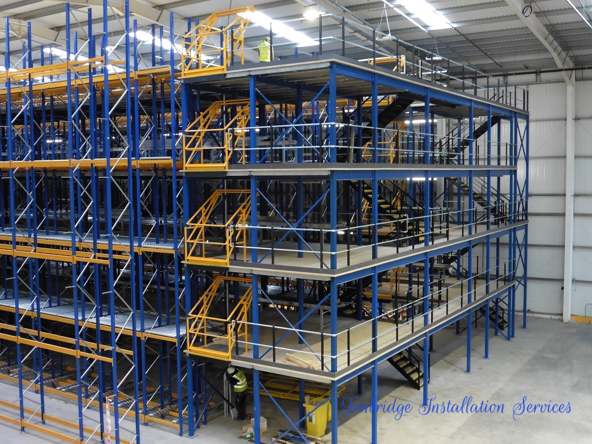 Racking Installation Mezzanine Floor - Tonbridge Installation Services